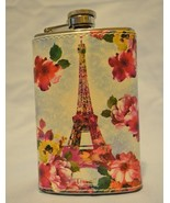 Paris in the Spring Flask Eiffel Tower Flowers Cocktails - NWT - $13.79