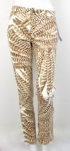 NEW Lauren Ralph Lauren Tan Feather Boho Stretch Slimming Velvet Pants 4... - $37.99