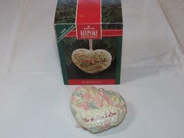HALLMARK Keepsake Ornament 1992 For The One I Love fine porcelain NOS - $14.84