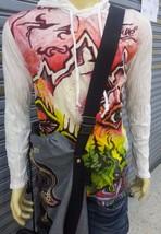 Yoga Men Shirt long sleeve Hoodie Magic Mushrooms Mountain Freedom Love ... - $12.86