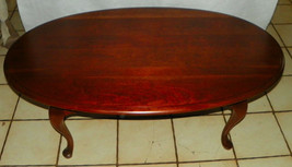 Solid Cherry Oval Coffee Table - $499.00