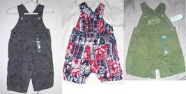 The Children's Place Infant Boys Overalls Creepers 4 Choices 0-3M 3-6M 6... - $9.09