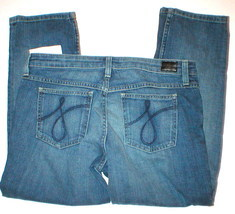 Blue NWT Womens $168 Juicy Couture Crop Jeans 29 32 x 24 New Logo Pockets  - $20.00