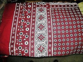 AJRAK SINDHI PAKISTAN SHAWL SCARF CHADAR MENS WOMENS UNISEX COTTON PATU ... - $19.11