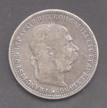 1893 Austria 1 Corona Silver Coin Nice! - $8.45