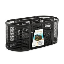 Markers Pens Pencil Cup Organizer 4 Compartments Steel Mesh w/ Drawers  - $23.20