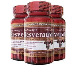 Resveratrol 500mg - Anti-aging, Anti-oxidant - 30 Day Supply - $19.75+