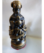 VTG Heavy Pewter metal Bronze color Asian Chineese Chess Piece figurine - $20.79