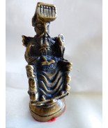 VTG Heavy Pewter metal Bronze color Asian Chineese Chess Piece figurine ... - $34.65