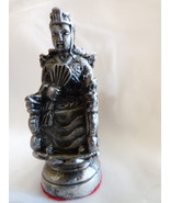 VTG Heavy Pewter metal Silver color Asian Chineese Chess Piece figurine ... - $33.66