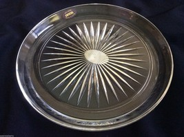 "VTG 24% Lead Crystal clear  star burst pattern plate platter tray 8.5"" - $34.65"