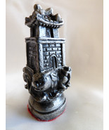 VTG Heavy Pewter metal Silver color Asian Chineese Chess Piece figurine ... - $20.79