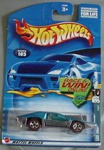 Hot Wheels 2002 Side Kick Red Line 3/4 #105 Blue - $2.23