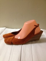 WOMENS ORANGE SUEDE WEDGE NINE WEST HEELS SIZE 9 - $23.75