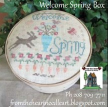 Welcome Spring Box cross stitch chart From The Heart  - $7.20