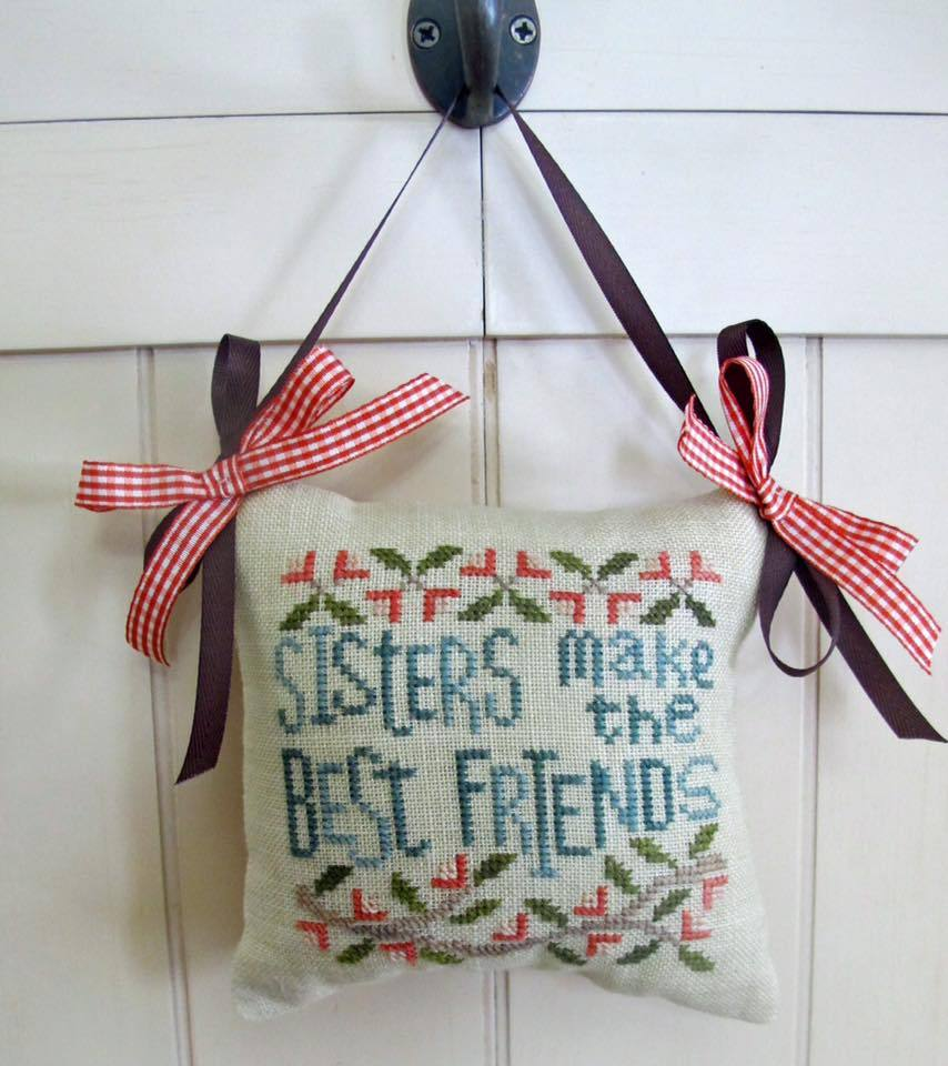For My Sister cross stitch chart From The Heart  - $5.00