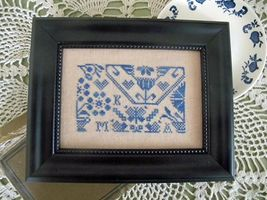 Quaker Blues cross stitch chart From The Heart  - $5.40