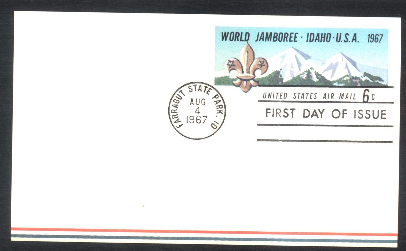 Boy Scouts World Jamboree Air Mail Post Card first Day of Issue August 4, 1967