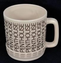 "Penthouse Magazine Logo Coffee Mug Cup 3 1/4"" Diameter 3 5/8"" Height Vin... - $34.60"