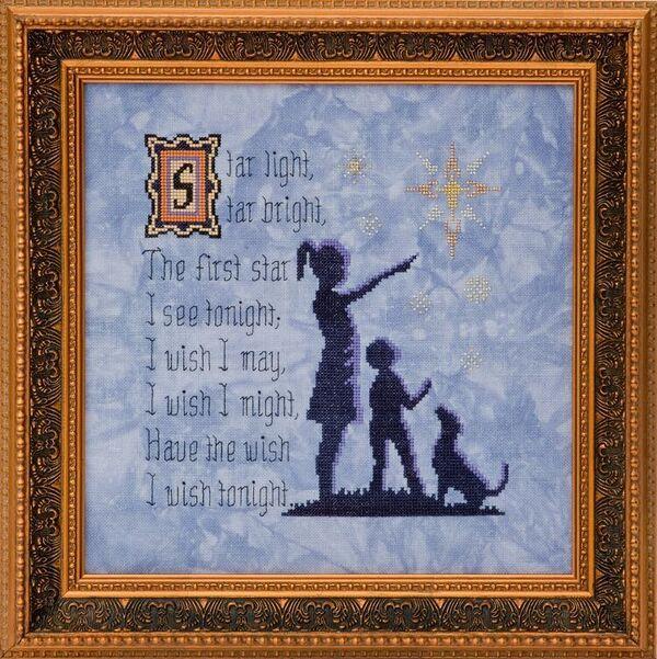 FABRIC CUT 28ct jay cashel linen 16x16 Star Light Star Bright Glendon Place
