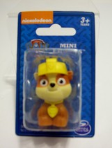 Paw Patrol Mini Figure Rubble Puppy Dog Nickelodeon 1.5 in. Stocking Stu... - $3.99