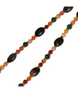 Green Jade and Peach Quartz Beaded Pendant Neck... - $35.00