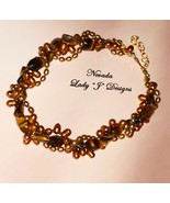 Bronze Colored Pearl and Gold Tiger Eye Multi S... - $65.00