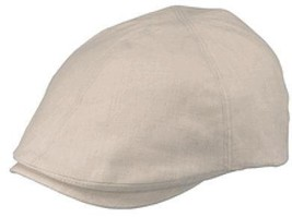 Henschel Linen Blend Duck Bill Driver Cap Fully Lined Lightweight Beige ... - $42.00