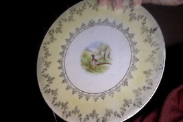 VINTAGE Set of 2 Fine China Gold Embossed rims Salad/desert Plates - $11.88