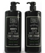 2 Count Dead Sea Collection Detoxifying Men's 3in1 Amber-Wood Scented 33... - $25.99