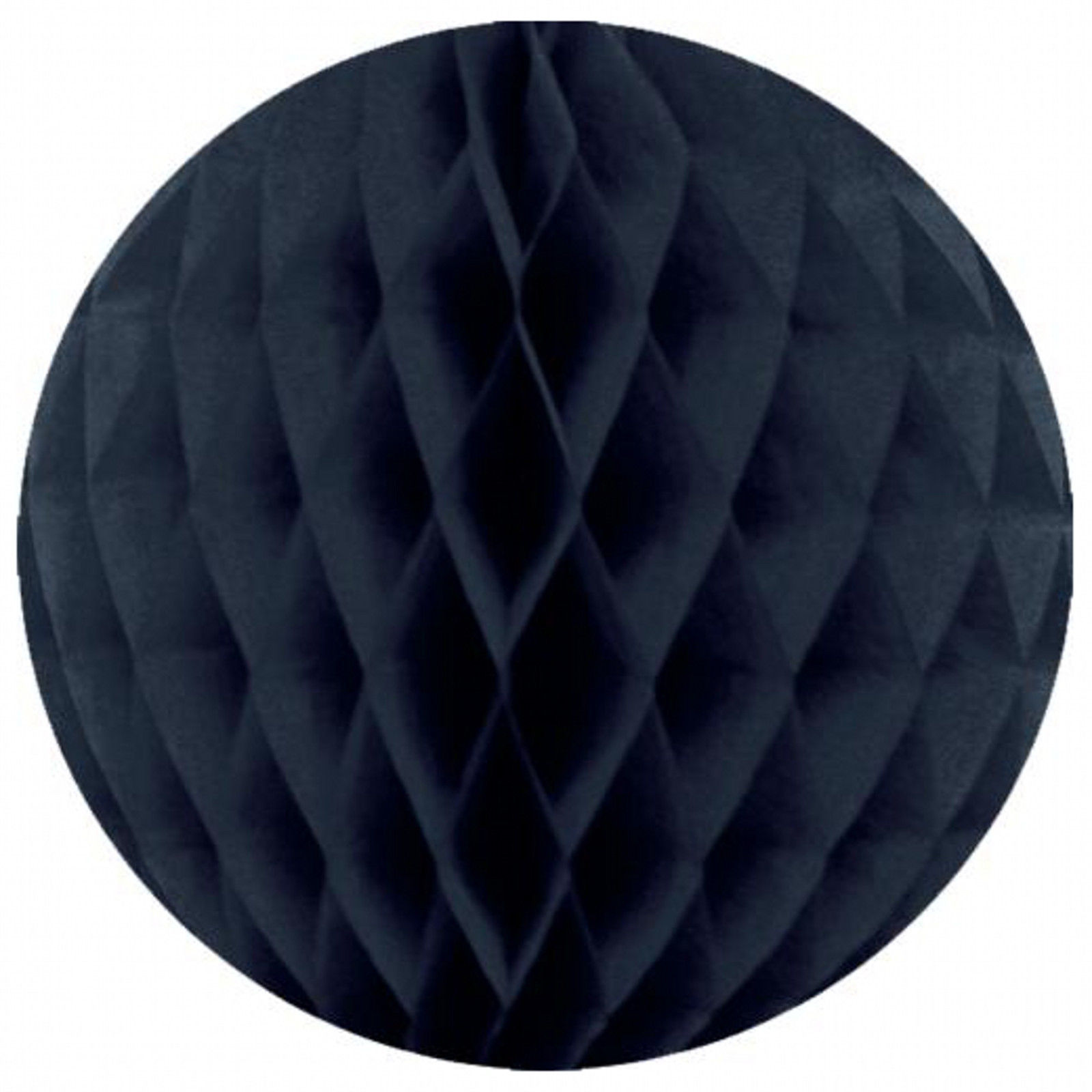 "3 pieces honeycomb balls paper decoration 2 black and 1 navy blue 12"" dia"