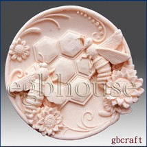 2D Silicone Soap Mold-Busy Bee Plate - Free Shipping - $29.85