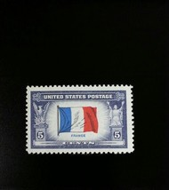 1943 5c France Overrun Nation, Flag Scott 915 Mint F/VF NH - $0.99