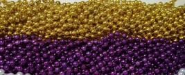 48 LSU Purple Gold Mardi Gras Beads Football Party Favors Tailgate BCS 4... - $17.00 CAD