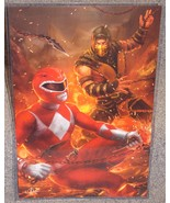 Red Power Ranger vs Mortal Kombat Scorpian Glossy Print In Hard Plastic ... - $24.99