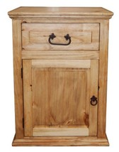 Medium Econo One Drawer One Door Nightstand Western Cabin Lodge Solid Wo... - $173.25