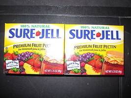 Sure Jell Premium Fruit Pectin 100% Natural 2-1.75 oz Boxes - $10.79