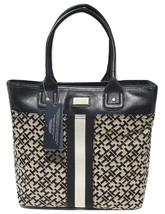 New! Black Alpaca [Tommy Hilfiger] Large Shoulder Tote Travel Handbag Tommy - $129.36