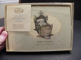Baby's Firsts A Book of Photographs, Die-Cut Photo Album 20 Photos VTG 2... - $9.02