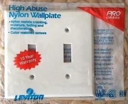 NEW Leviton 80709-W 2-Gang Toggle Device Switch Wallplate Standard Size - $8.59