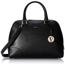 FURLA Dolly Medium North/South Leather Top Handle Bag,Onyx,One Size - $463.32