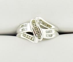10k White Gold Moissanite Diagonal Bypass-Style Ring - $259.95
