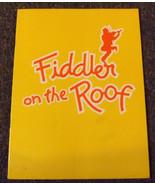 1981  - Fiddler On The Roof - Souvenir Program - Herschel Bernardi - $6.50