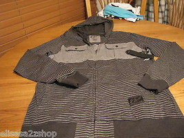 Mens O'Neill howler zip up jacket hoodie medium shirt long sleeve black ... - $41.23