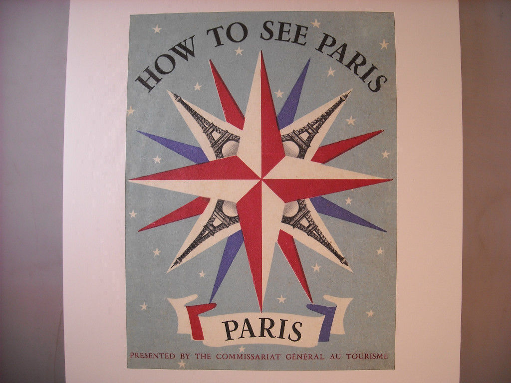 Reproduction Print Poster of vintage Paris Brochure Cover Eiffel Tower