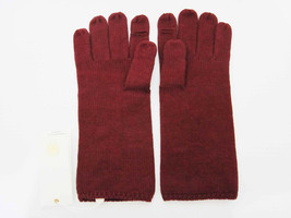 New Tory Burch Merino Wool Gloves Mitten Burgandy Cordovan Color - $49.45