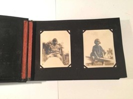 Photos Album Antique Mounted Vintage B&W Life Family Scenery 2 Negatives... - $34.64