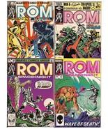 Marvel Rom Spaceknight Lot Issues #20, 24, 36, & 57 Nova New Champions D... - $9.95