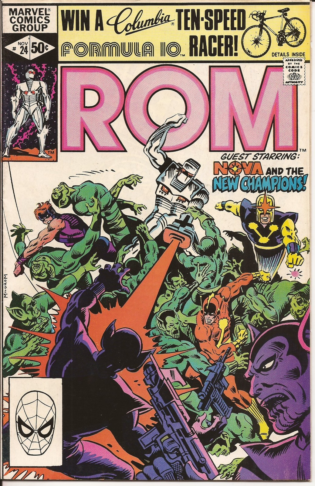 Marvel Rom Spaceknight Lot Issues #20, 24, 36, & 57 Nova New Champions Death
