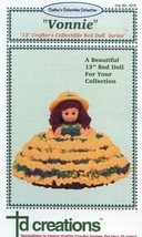 "Vonnie 13""  Bed Doll Outfit Crochet Pattern NEW RARE - 30 Days To Shop & Pay! - $6.27"